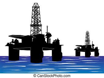 用具一式, 油田採掘