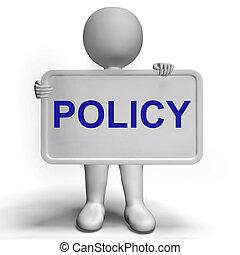用語, プライバシー, 会社, 印, 保護, 戦略, データ, ショー