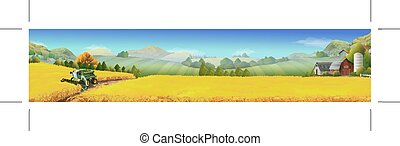 田園, ムギ 分野, 風景