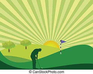 田舎, ゴルファー