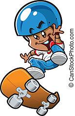 男の子, スケートボード, 民族