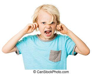 男の子, 叫ぶこと, 耳を妨げること
