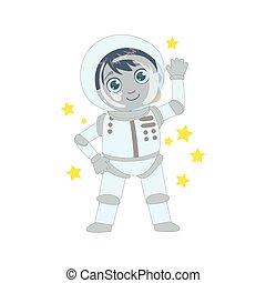 男の子, 未来, 宇宙飛行士