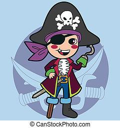 男の子, 海賊, 衣装