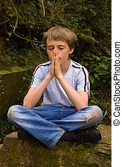 男の子, 祈ること, 若い