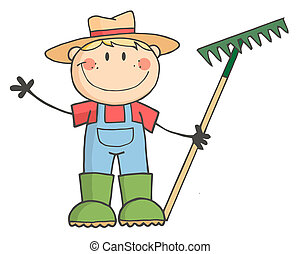 男の子, 農夫, コーカサス人