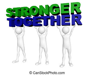 男性, 参加しなさい, 一緒に, 3, 力, より強い, 言葉, リフト