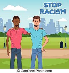 男性, 止まれ, 人種差別, キャンペーン, 恋人, interracial