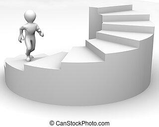 男性, 階段