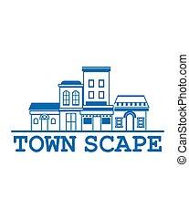 町, ロゴ, scape