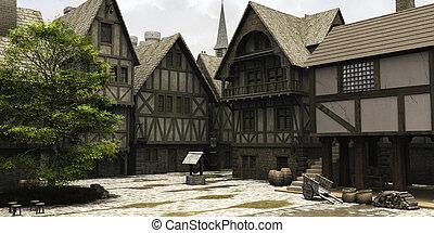 町, 傷つけなさい, 中世, 中心, ファンタジー, ∥あるいは∥