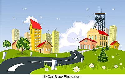 町, 鉱山