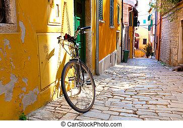 町, rovinj, 小さい, 通り, croatia