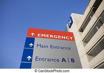 病院, 現代, 緊急時の 印