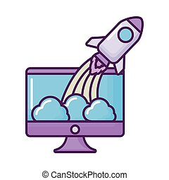 発射装置, コンピュータ, ロケット