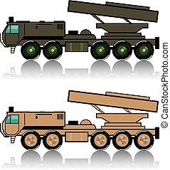 発射装置, トラック, ロケット