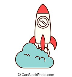 発射装置, ロケット, 雲