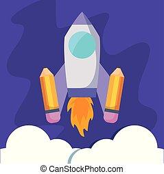 発射装置, 鉛筆, ロケット