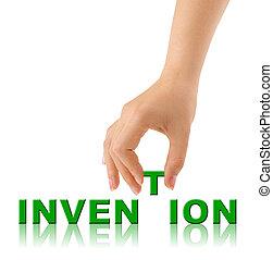 発明, 単語, 手