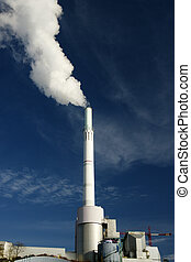 発煙, 植物, 雰囲気, 力, 出ること