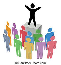 発表, soapbox, グループ, キャンペーン, コミュニケーション