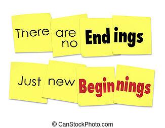 発言, 始まり, ただ, いいえ, メモ, そこに, 終り, 新しい, 付せん