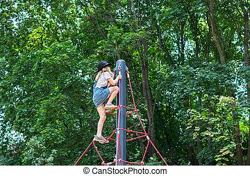 登山ロープ, 運動場, 子供