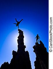 登山家, summit., 岩