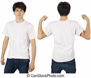白い男性, ワイシャツ, ブランク