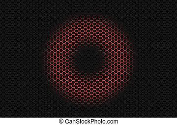 白熱, 円, 背景, balck, 六角形