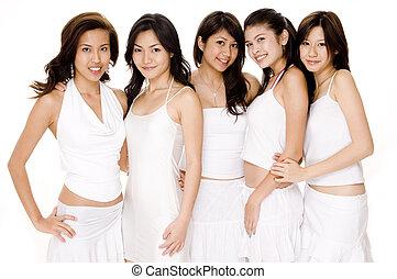 白, アジア人, #1, 女性