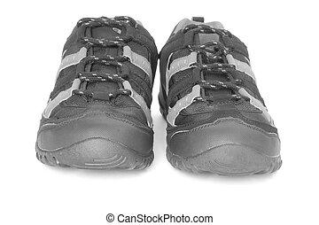 白, スポーツの靴, 隔離された