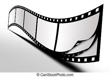 白, フィルム, 背景