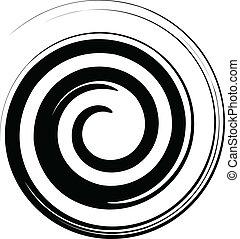 白, ベクトル, 黒, らせん状に動きなさい