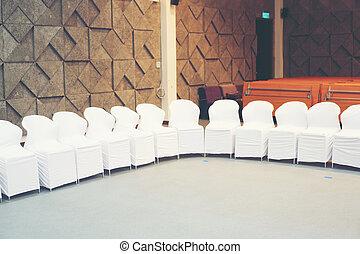 白, ホテル, 椅子