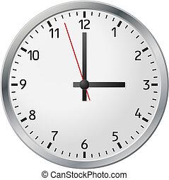 白, 時計