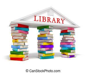 白, 本, 図書館, アイコン