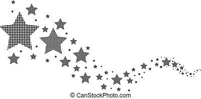 白, 黒, 星