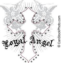 皇族のエンブレム, 交差点, 天使
