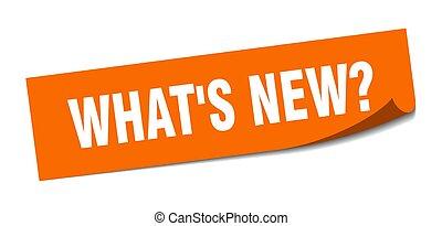 皮むき器, sticker., new?, 印。, ある何が, 隔離された, ラベル, 広場
