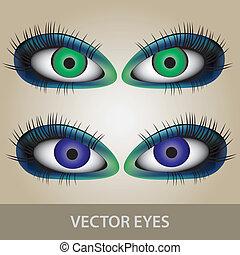 目, ベクトル, eps10, セット