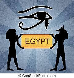 目, horus, エジプト人