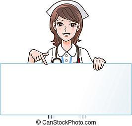 看護婦, 微笑, かわいい, 指すこと