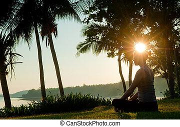 瞑想, 日の出