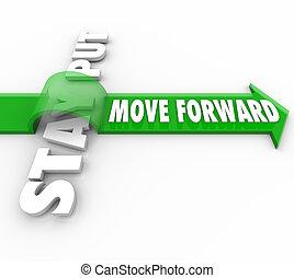 矢, 動きなさい, 滞在, 置かれた, ∥対∥, 言葉, 前方へ, 進歩, ゴール