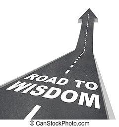 知性, -, 知恵, 方向, 啓発, 道