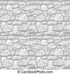 石の壁, -, seamless, 現実的, ベクトル, 背景