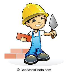 石工, こて, 若い