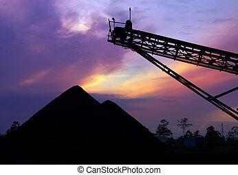 石炭, 備蓄, 日の出