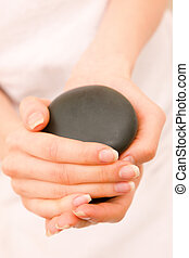 石, クローズアップ, 女性の保有物